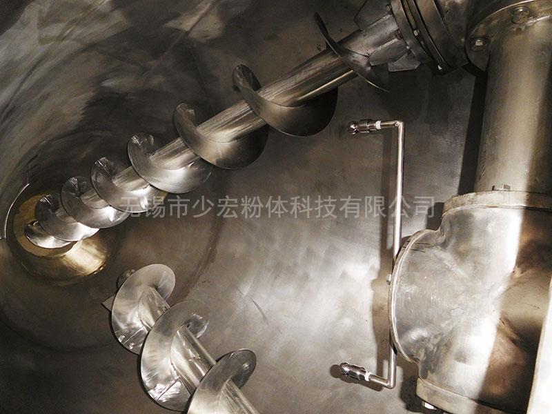 单锥双luo旋混合机内部结构加装喷ye